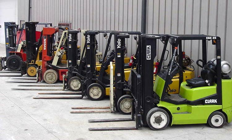 second hand forklifts